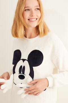 Womensecret Белая пижама из текстурированного флиса «Микки Маус» бежевый