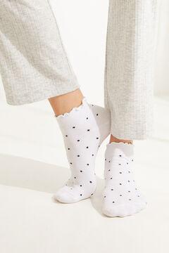 Womensecret Набор из 3 пар хлопковых коротких носков в горошек цветной