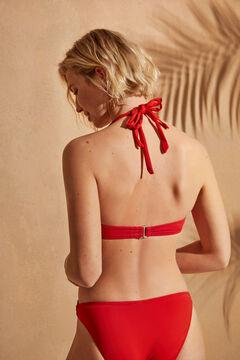Womensecret Топ бикини с треугольными чашками типа халтер красного цвета красный
