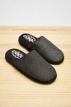Womensecret Черные домашние тапочки без задника «Коко» серый