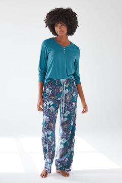 Womensecret Длинные синие брюки, созданные совместно с Coordonné голубой
