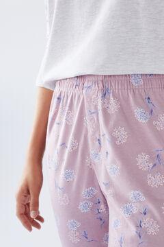 Womensecret Розовые длинные брюки из хлопка розовый