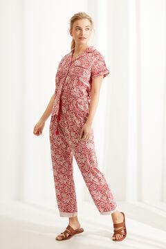 Womensecret Пижама в рубашечном стиле с короткими рукавами из 100 % хлопка с цветочным принтом  цветной