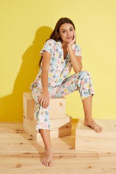 Womensecret Пижама с принтом из 100 % хлопка бежевый