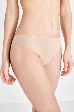 Womensecret 3 microfiber classic panties pack бежевый