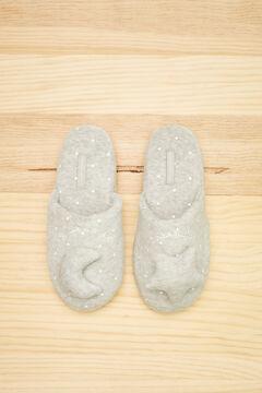 Womensecret Серые домашние тапочки без задника с 3D-изображением звезды серый