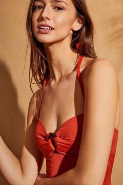 Womensecret красный моделирующий купальник-бандо красный