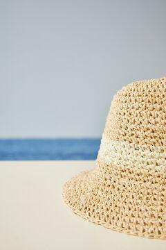 Womensecret Шляпа-ведро натурального цвета с блеском розовый