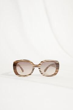 Womensecret Квадратные солнцезащитные очки и футляр «Зебра» бежевый