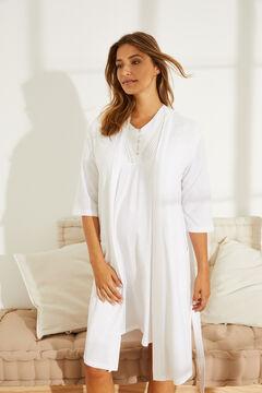 Womensecret Однотонный халат Maternity белый