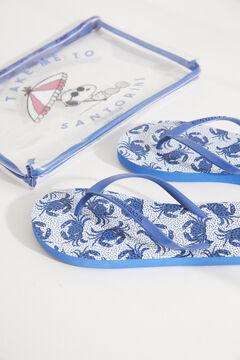 Womensecret Набор с синими шлепанцами «Снупи» с принтом с крабами голубой