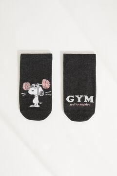 Womensecret Короткие хлопковые носки «Снупи» серый