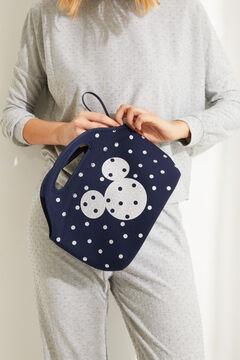 Womensecret Синяя сумка для обедов в горошек «Микки Маус» голубой