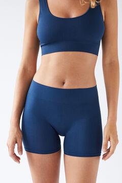 Womensecret Синие бесшовные шорты голубой