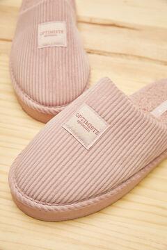 Womensecret Розовые бархатные домашние тапочки без задника розовый