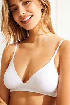 Womensecret Wireless triangular bra белый