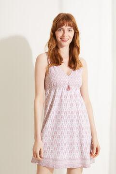 Womensecret Короткая ночная рубашка из 100 % экологичного хлопка розового цвета цветной