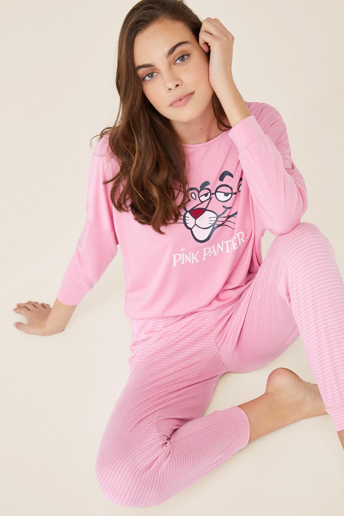 09f33c6cf811 Длинная пижама Розовая Пантера | Длинные пижамы | Women'secret