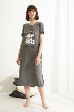 Womensecret Ночная рубашка миди «101 далматинец» серого цвета серый