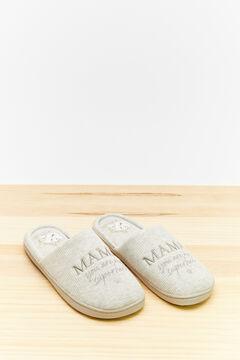 Womensecret Тапочки Maternity с принтом Disney серый