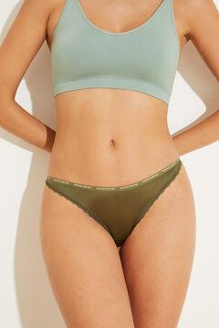 Womensecret Зеленые трусики-бразилиана с тесемками зеленый