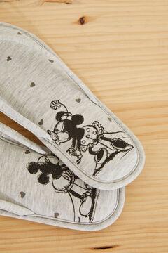 Womensecret Серые домашние тапочки без задника «Микки Маус» серый