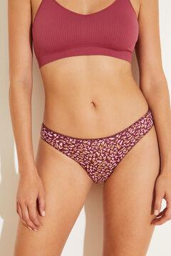 Womensecret Фиолетовые трусики-бразилиана с принтом фиолетовый