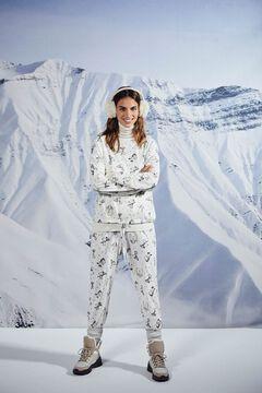 Womensecret Длинная пижама с принтом «Снупи»  серый