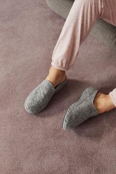 Womensecret Серые тапочки-сабо на плоской подошве серый