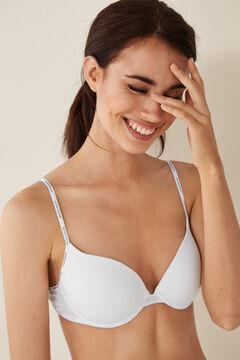 Womensecret Бюстгальтер с эффектом пуш-ап из органического хлопка белый