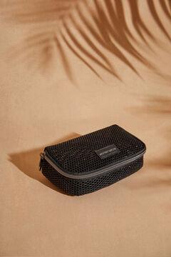 Womensecret Маленькая косметичка из сетчатой ткани  черный