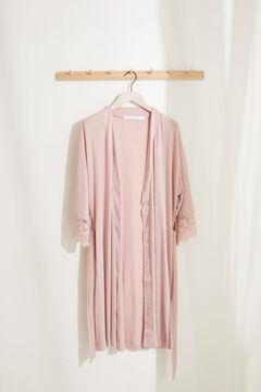 Womensecret Розовый халат Maternity из невероятно мягкого трикотажа. розовый