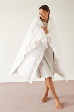 Womensecret Ночная рубашка миди с принтом с луной из 100% органического хлопка серого цвета серый