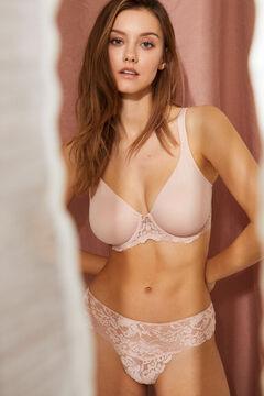 Womensecret REAL Розовый уменьшающий бюстгальтер на косточках розовый