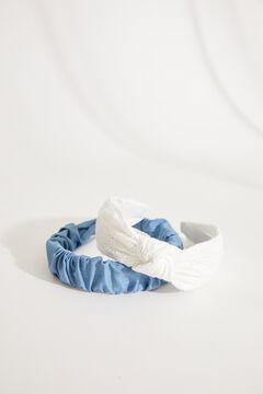 Womensecret Белый ободок для волос с вышивкой и декоративным узлом бежевый