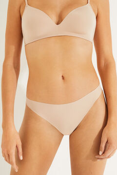 Womensecret 2 microfiber brazilian panties pack бежевый