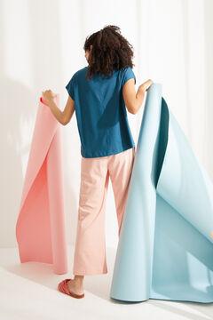 Womensecret Синяя футболка из хлопка с короткими рукавами голубой