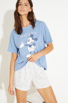 Womensecret Короткая хлопковая пижама   голубой
