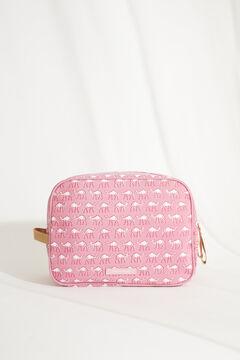Womensecret Большая розовая косметичка-футляр «Гарфилд» с принтом с верблюдами розовый