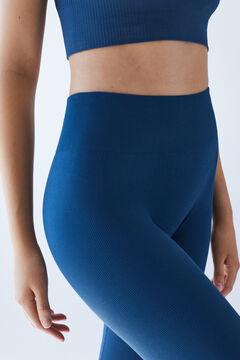 Womensecret Длинные бесшовные леггинсы синего цвета. голубой