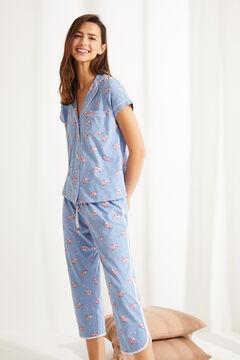 Womensecret Пижама в рубашечном стиле «Розовая пантера» голубой