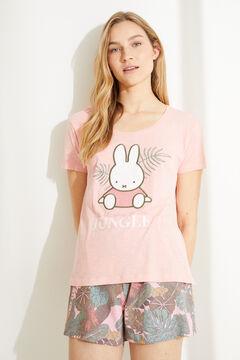 Womensecret Короткая хлопковая пижама с верхом с короткими рукавами «Миффи» розовый