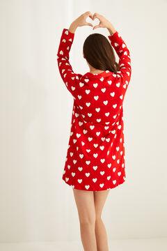 Womensecret Ночная рубашка из хлопка с сердечками и принтом «Снупи» цветной