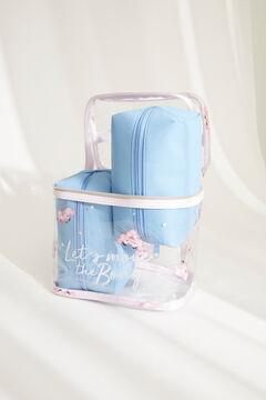 Womensecret Комплект из 3 косметичек Розовая пантера голубой