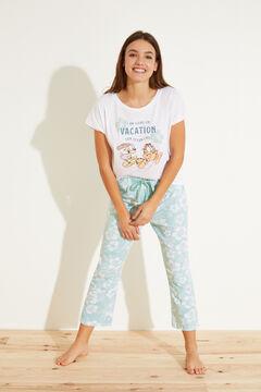 Womensecret Длинная пижама из 100 % хлопка бежевый