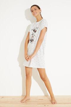Womensecret Короткая хлопковая ночная рубашка «Минни Маус» серый