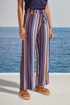 Womensecret Широкие брюки в полоску цветной