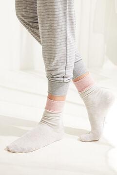 Womensecret Носки средней длины с люрексом серый