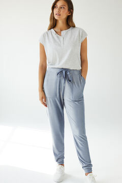 Womensecret Синие бархатные брюки голубой