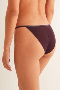 Womensecret Бордовые классические трусики из флокированного тюля фиолетовый